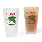 I Love Compost Drinking Glass