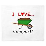 I Love Compost King Duvet
