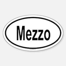 MEZZO Oval Decal