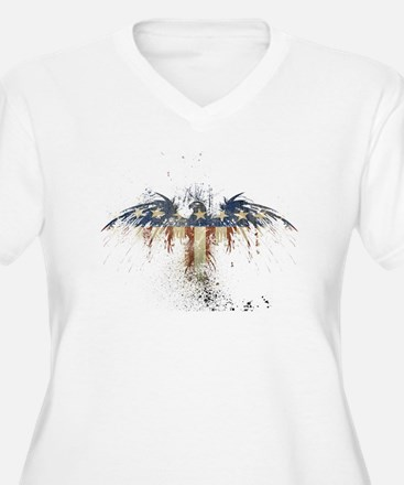 COLORFUL EAGLE Plus Size T-Shirt