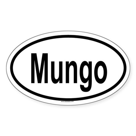 MUNGO Oval Sticker