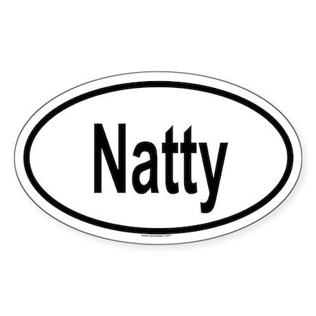 NATTY Oval Sticker