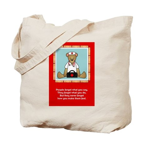 Nurse Sentiments-Teddy Bear Tote Bag