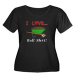 I Love B Women's Plus Size Scoop Neck Dark T-Shirt