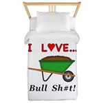 I Love Bull Sh#t Twin Duvet