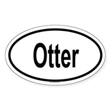 OTTER Oval Decal