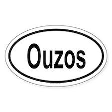 OUZOS Oval Decal