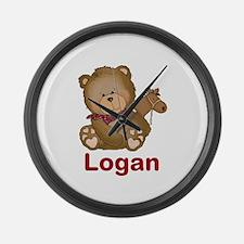 Logan's Cowboy Bear Large Wall Clock