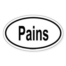 PAINS Oval Decal