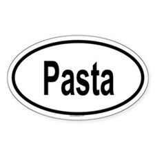 PASTA Oval Decal