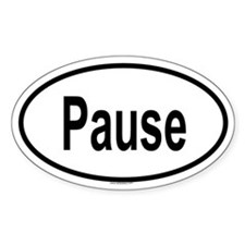 PAUSE Oval Decal