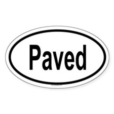 PAVED Oval Decal
