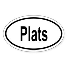 PLATS Oval Decal