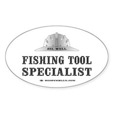 Fish Tool Spst. Oval Decal