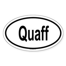 QUAFF Oval Decal