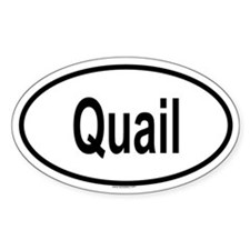 QUAIL Oval Decal