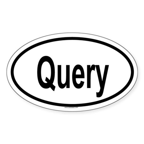 QUERY Oval Sticker