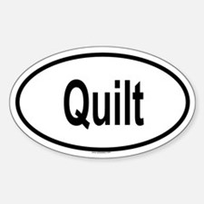 QUILT Oval Decal