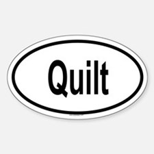 QUILT Oval Stickers