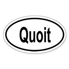 QUOIT Oval Decal