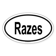 RAZES Oval Decal