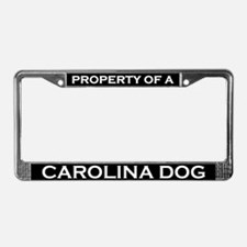 Property of Carolina Dog License Plate Frame