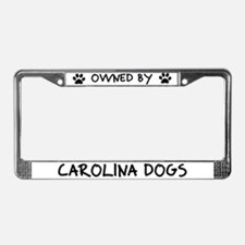 Owned by Carolina Dogs License Plate Frame