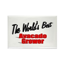 """""""The World's Best Avacado Grower"""" Rectangle Magnet"""