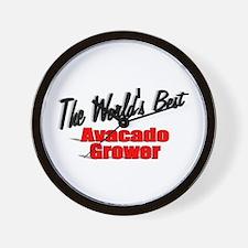 """The World's Best Avacado Grower"" Wall Clock"