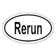RERUN Oval Decal