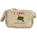 I Love Gardening Messenger Bag