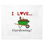 I Love Gardening King Duvet