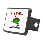 I Love Gardening Rectangular Hitch Cover