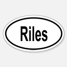 RILES Oval Decal