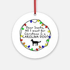 Dear Santa Carolina Dog Christmas Ornament
