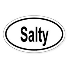 SALTY Oval Decal