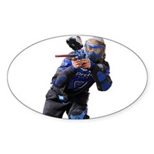 Paintball Wargamer (BLUE) - Oval Decal
