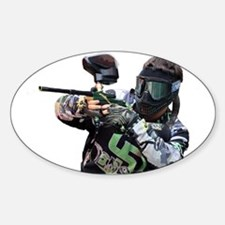 Paintball Wargamer (GREEN) - Oval Decal