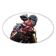 Paintball Wargamer (RED) - Oval Decal