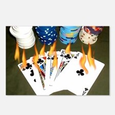 Cute Poker game Postcards (Package of 8)