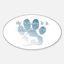 Carolina Dog Granddog Oval Decal