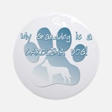 Carolina Dog Granddog Ornament (Round)