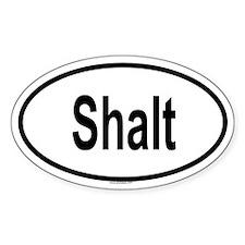 SHALT Oval Decal