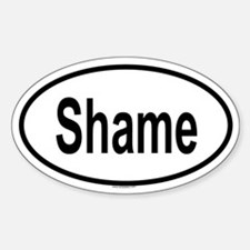 SHAME Oval Decal