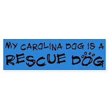 Rescue Dog Carolina Dog Bumper Bumper Sticker