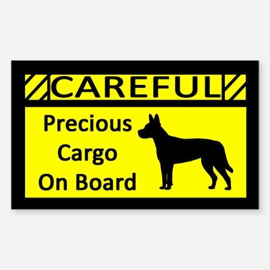 Precious Cargo Carolina Dog Sticker (Rect)