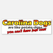 Potato Chips Carolina Dog Bumper Bumper Bumper Sticker