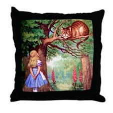 ALICE & THE CHESHIRE CAT Throw Pillow