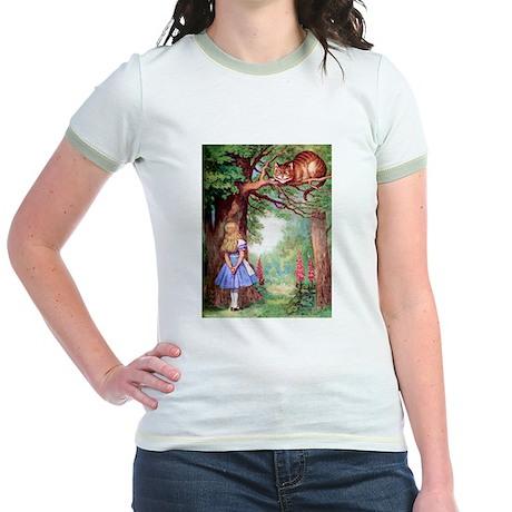 ALICE & THE CHESHIRE CAT Jr. Ringer T-Shirt