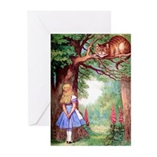 ALICE & THE CHESHIRE CAT Greeting Cards (Pk of 10)